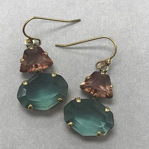 Sorrelli Amethyst & Teal Crystal Earrings,NWT